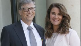 Bill Gates receives the award of Commander of the Legion of Honor by French President Francois Hollande