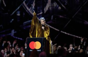 Pink performs at the Brits Live Show 2019