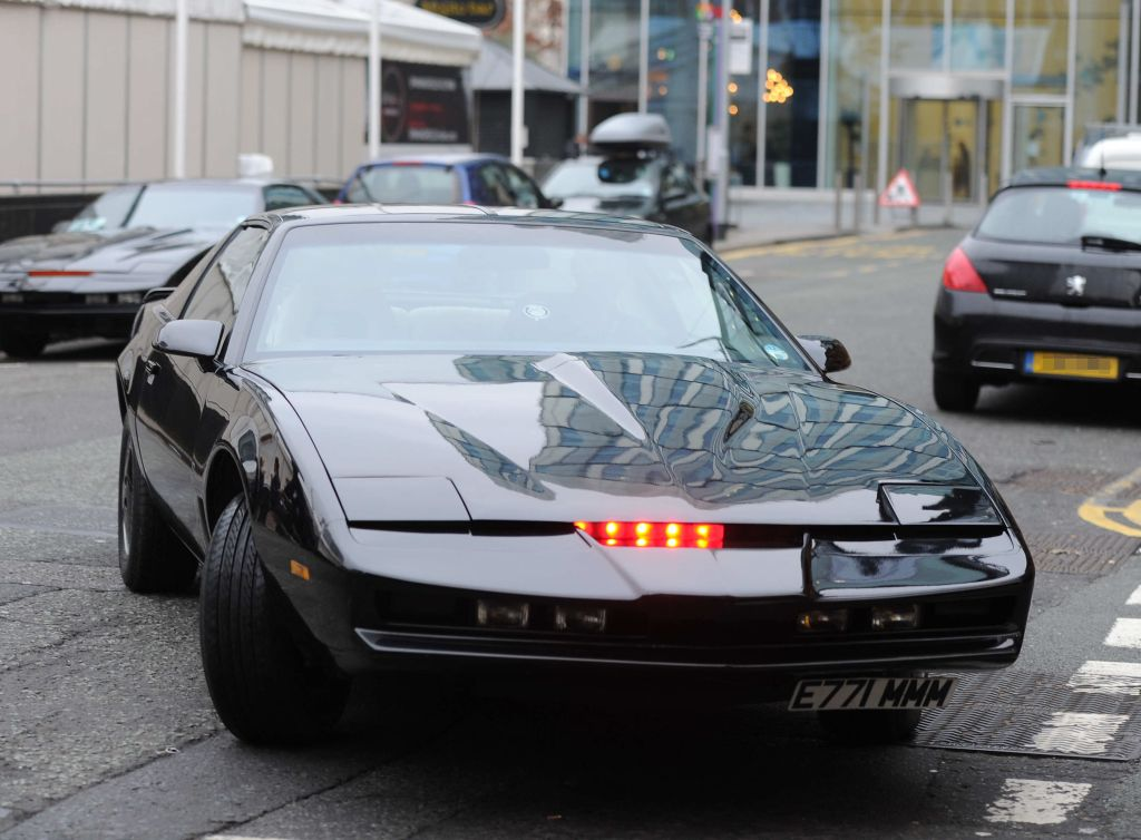 KITT, the car from Knight Rider, out and about in Manchester