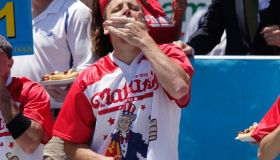 Professional Eaters Compete In Annual Nathan's Hot Dog Eating Contest