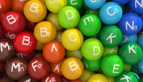 Colorful capsules with vitamins and minerals