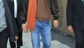 Kevin Costner arrives at the Jimmy Kimmel studios