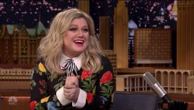 Kelly Clarkson during an appearance on NBC's 'The Tonight Show Starring Jimmy Fallon.'