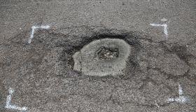 Potholes in north London