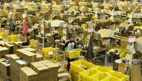 Inside the Amazon UK warehouse on Black Friday