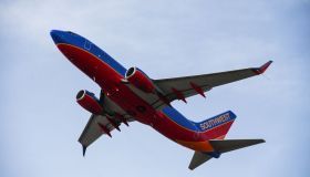 Southwest Airlines flight takes off at Long Island MacArthur Airport in 2021